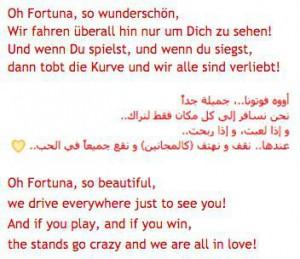 Oh Fortuna so wunderschön